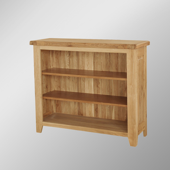 306rl Solid Oak Low Bookcase Wide Book Rack