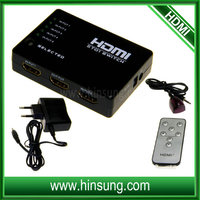 Factory 3D 1080P High Speed Full HD hdmi matrix 5x1 switch