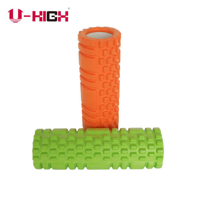 Wholesale colorful deep high density fitness confortable rubber exercise foam rollers