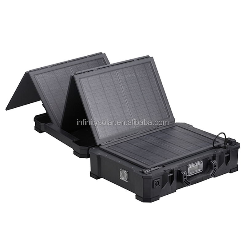 How Long Does A Car Battery Last >> Military Style Portable Solar Lighting System With 50w ...
