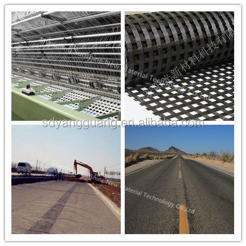 pp, pe, polyester material and geogrids type geogrid used in road construction