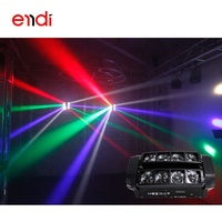 ENDI Hot sell 4in1 rgbw mini 8 eye spider led beam stage lighting with imported beads for Karaoke dance room dj lights