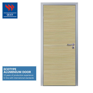 Ecological prevent deformation aluminium flush doors design for house
