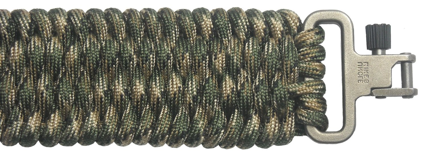 TOUGH-GRID BackBone(TM) Paracord Rifle Sling - Gun Sling/Rifle Sling - Handmade in the USA With Authentic Mil-Spec 750lb Type IV Paracord and Mil-Spec Swivels