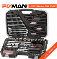 124 Piece Mechanic's Socket and Ratchet Wrench Tool Kit Set