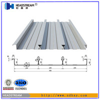 Galvanized corrugated steel sheet floor decking for concrete constrution for building materials