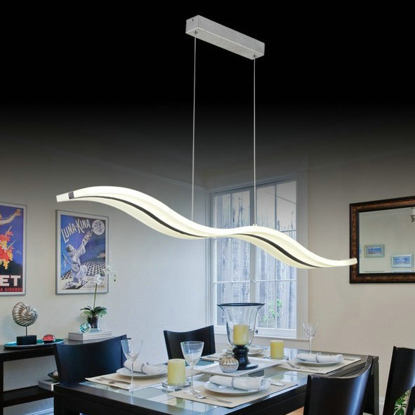 moderne led vague pendentif lampe luminaire pour salon. Black Bedroom Furniture Sets. Home Design Ideas
