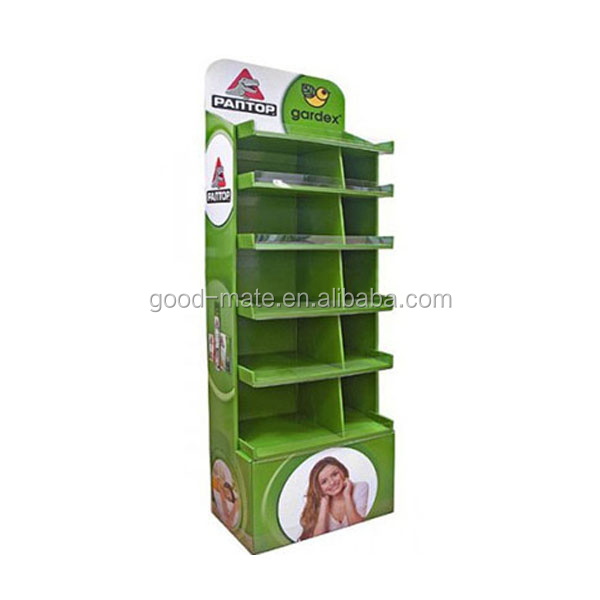 Public Cardboard Advertising Equipment Store Shelf