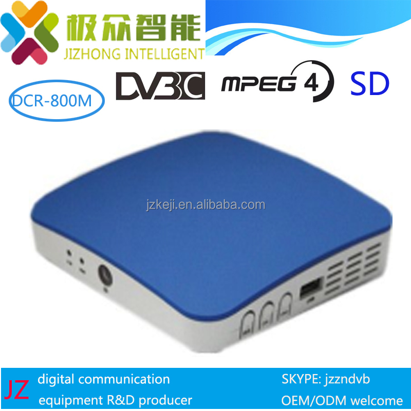 VOD EPG CAS MPEG-4 cable STB QAM digital cable tv set top box