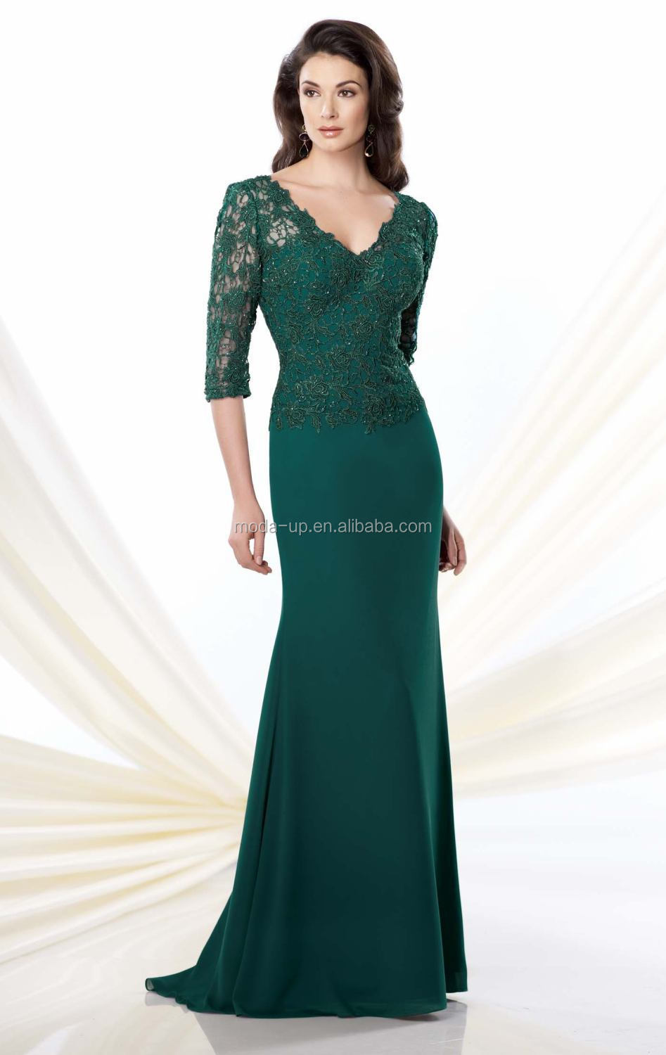 Wholesale Modest mother of the bride dresses, green mother bride ...