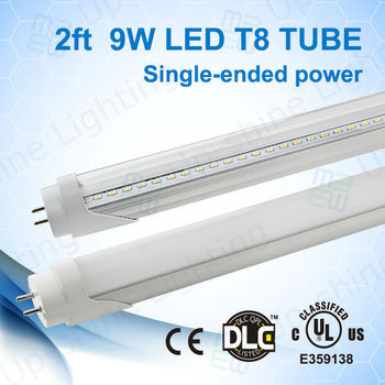 T8 Replacement Led Tube Light 2ft 10w With Aluminum Shell And Pc ...