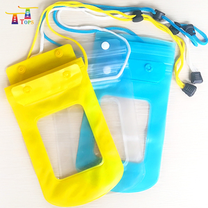 wholesale universal pvc fluorescent waterproof pouch dry case for smart phone