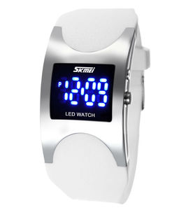 Skmei 0951 ladies Digital Watch Fashion Square LED Jelly Silicone Strap 30m Waterproof Sports Men Top brand cool watches