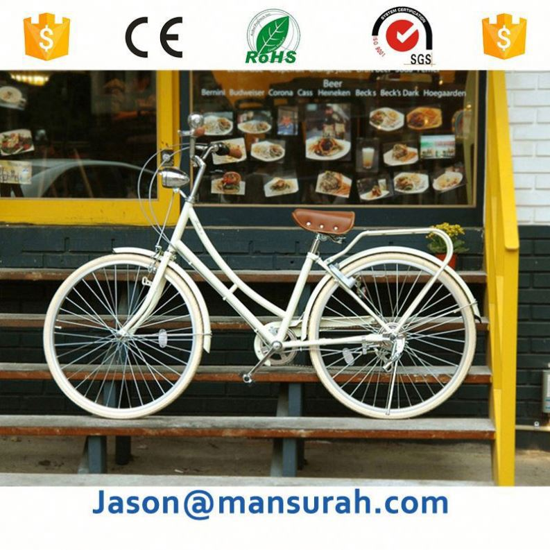 Wholesale lightweight green alloy lady city bike,share bicycle