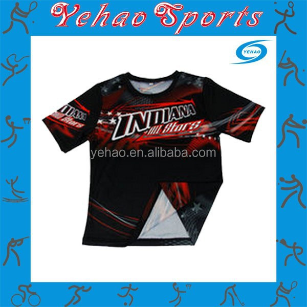 Eco-friendly sublimation printing sportswear soccer jersey