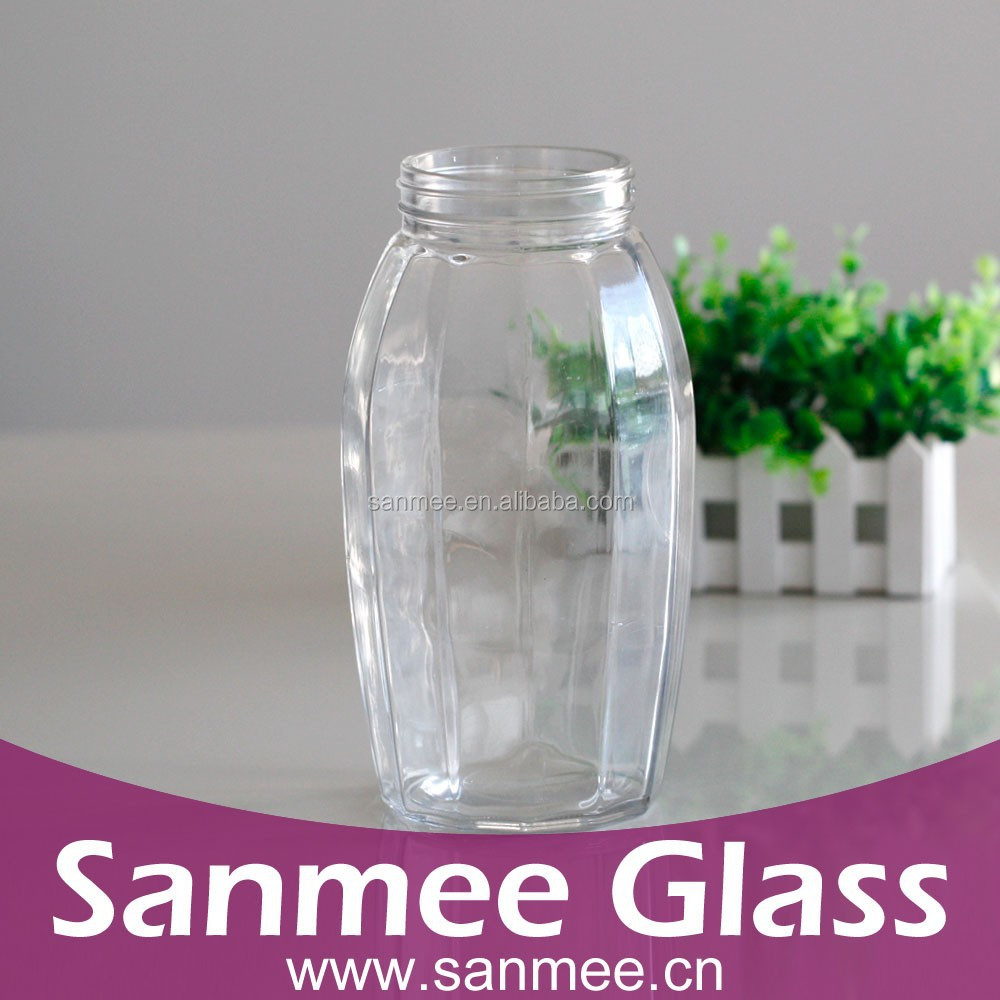 Glass Container 2.5L Large Capacity Screw-on Cap Unique Glass Storage
