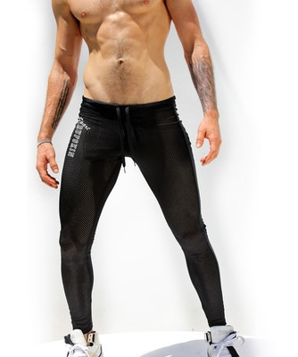 01208a9dda7fb 2019 Sexy AQUX Men'S Workout Tights Elastic Gym Sports Running Pants ...