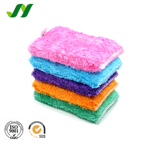 Bamboo Fiber Customized Oil Free Dishes Washing Sponge Scouring Pad