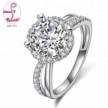 China manufacture new white products wedding favors gifts diamond engagement ring for wholesale