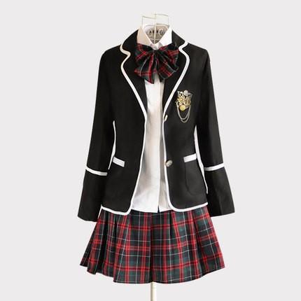 Plaid High School Girls Uniforms Korean School Uniforms ...