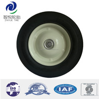 8 inch semi-pneumatic rubber wheel tire with bearing for wheelbarrow
