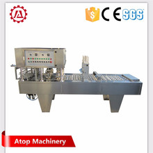 new mineral water cup filling and sealing machine with rubber stoppering system