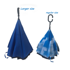 Best selling bigger size double layer inverted umbrella for golf