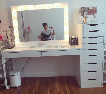 Professional Studio Makeup Mirror With Led Lights Hair