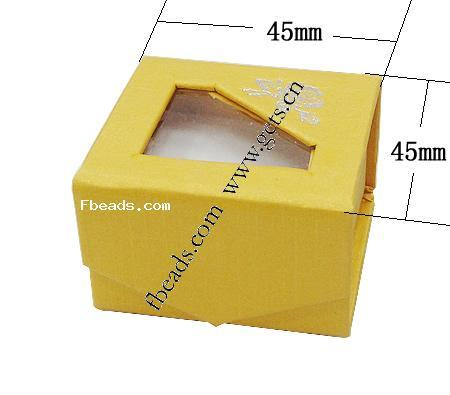 cardboard yellow canary cz ring
