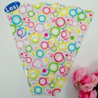 plastic flower bag packaging sleeves for cut flowers