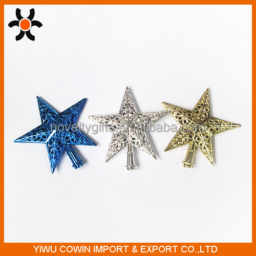 Christmas tree decorations Xmas plastic top star, Fancy Christmas decorative items shiny Plastic christmas tree top