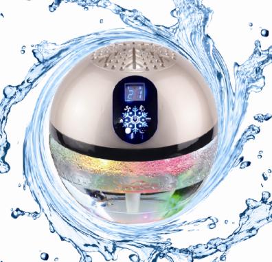 haushalt b ro wasser luftreiniger led licht globus holz lufterfrischer wasser luftbefeuchter. Black Bedroom Furniture Sets. Home Design Ideas
