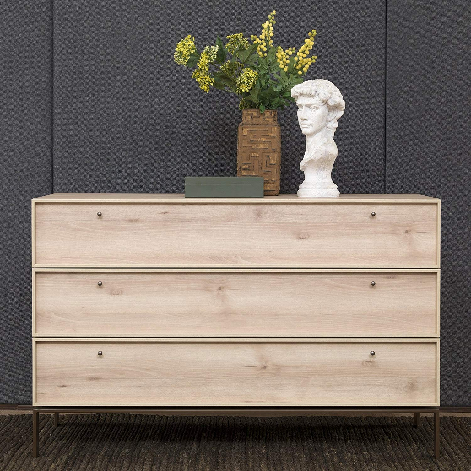 Adam and Illy VAL0686 Valentin Chest of Drawers, Iconic Oak