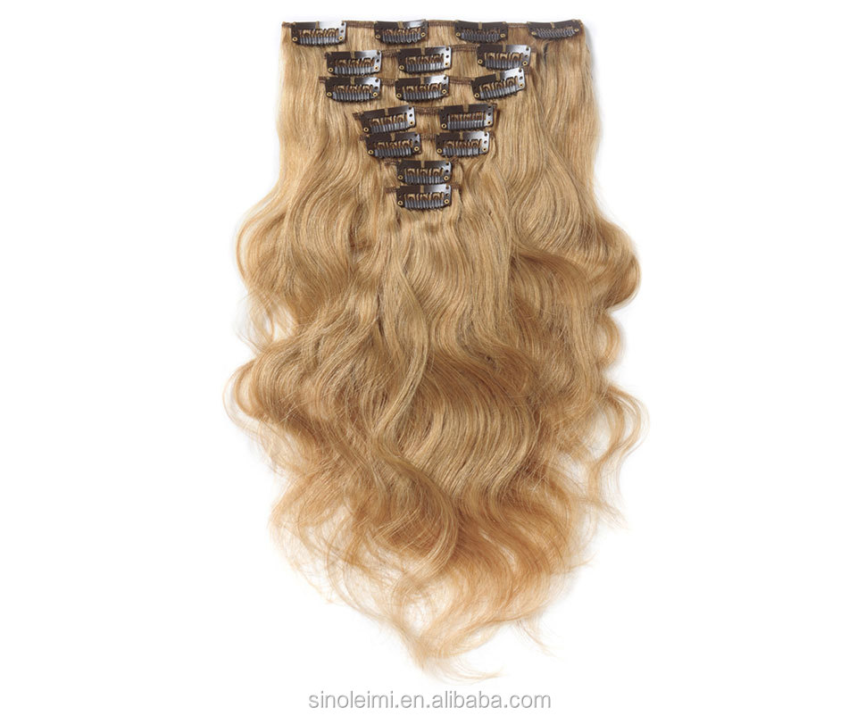 6 Inch 24 Inch Human Hair Weave Extension 27 Body Wave Clip In