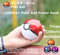 Portable Pokemon Go Ball 12000mAh Charger Dual USB Battery Power Bank with LED Light for iPhone
