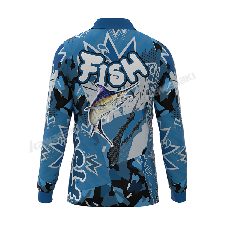 Custom breathable performance uv fishing shirts for men uv  quick dry