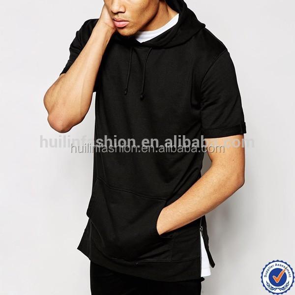 Men Custom College Hoodie Wholesale Longline Sweatshirt With ...