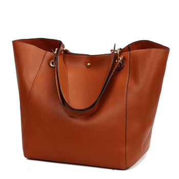 2018 Latest New Design Fashion Women Handbags 2pcs Set Bags Large Capacity Ladies Leather Tote Bags