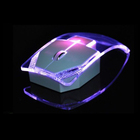 Oempromo luminous lights 2.4G computer transparent wireless mouse