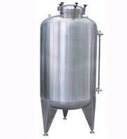 Sanitary stainless steel milk cooling and storange tank