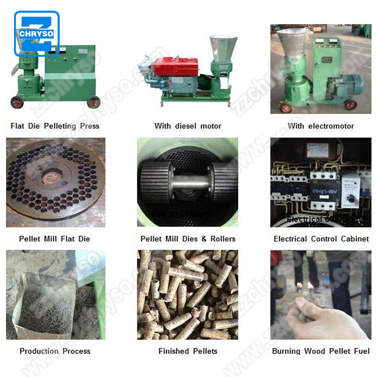 One years warranty of the 100 kg to 4000 kg per hour CE certified wood pellet machine price