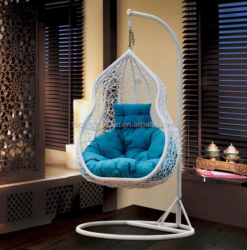 Outdoor hanging chair - Balkon Schaukel Einsitzer Garten Rattan H 228 Ngesessel Schwingen Im Hof