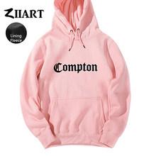 Толстовка для пары Compton, в стиле хип-хоп, с капюшоном, на флисе, для осени и зимы()