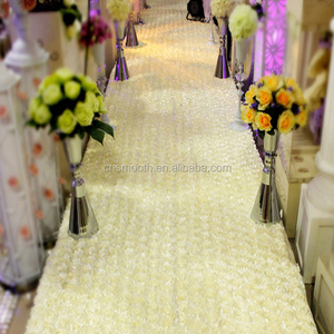 Wholesale Carpet Factory Price Elegant 3D Stain Rosette Carpet for Wedding Stage Decoration
