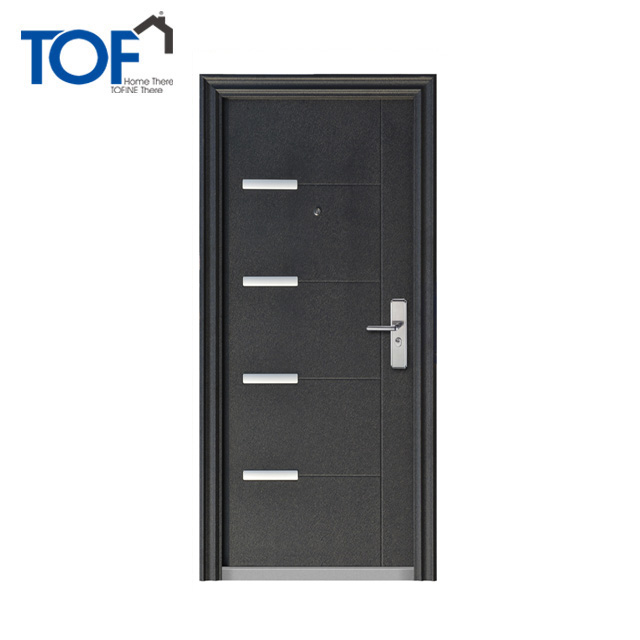 Powder coating decorative steel entry doors with s.s decorated