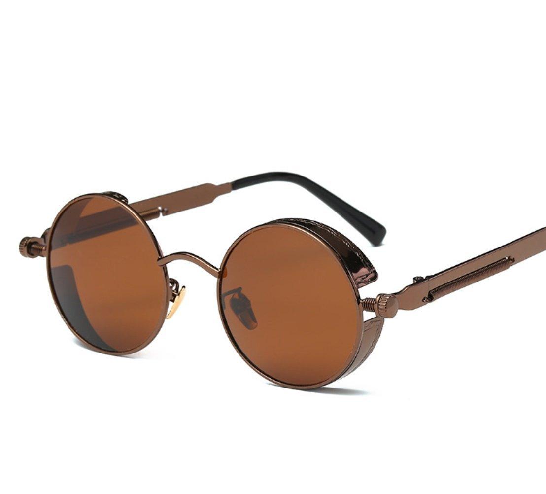 CUIYAN Fashion sunglasses Europe and the United States round personality reflective polarized sunglasses sunglasses men and women (Color : 4, Edition : Polarized light)