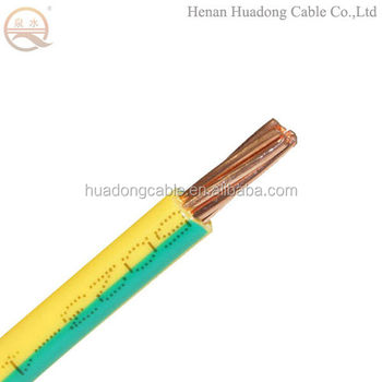 Single-core Massivem Kupfer Kabel 10mm2 Grün/gelb Pvc Elektrische ...
