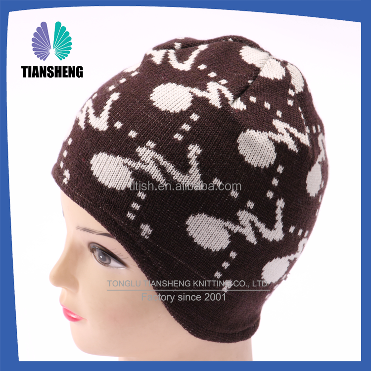 wholesale Knitting Machine/Acrylic Knitted Beanie Hat