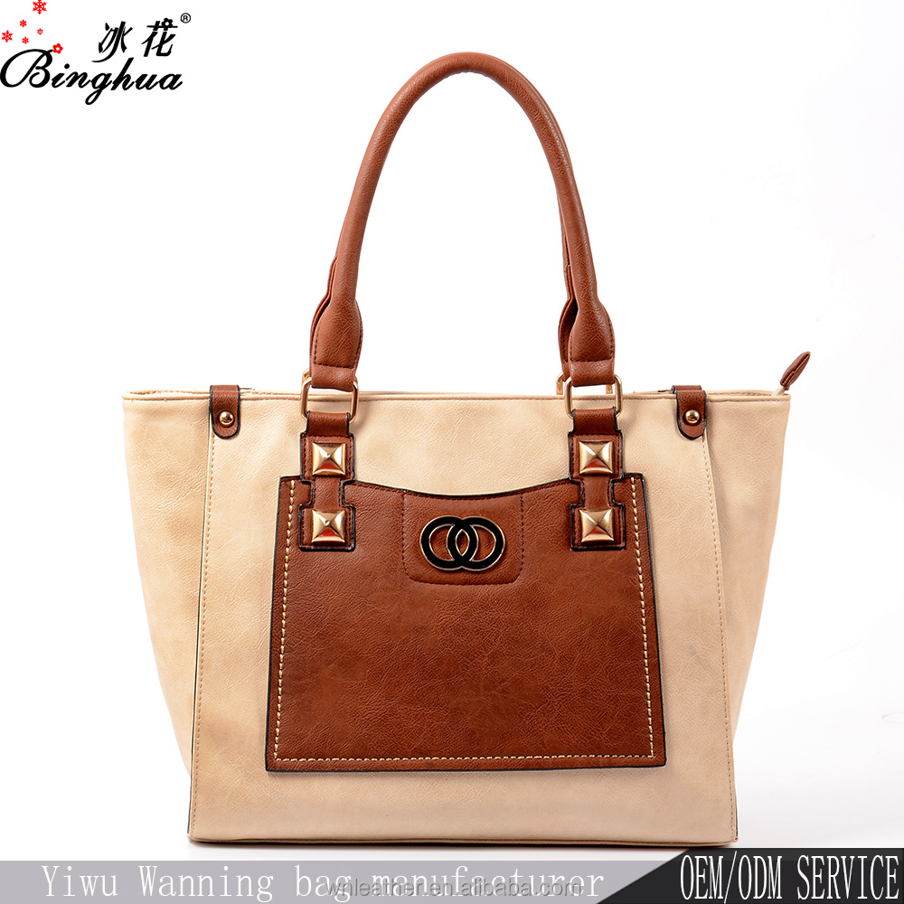 Los angeles tote bag manufacturers handbags ladies fashion bag in leather