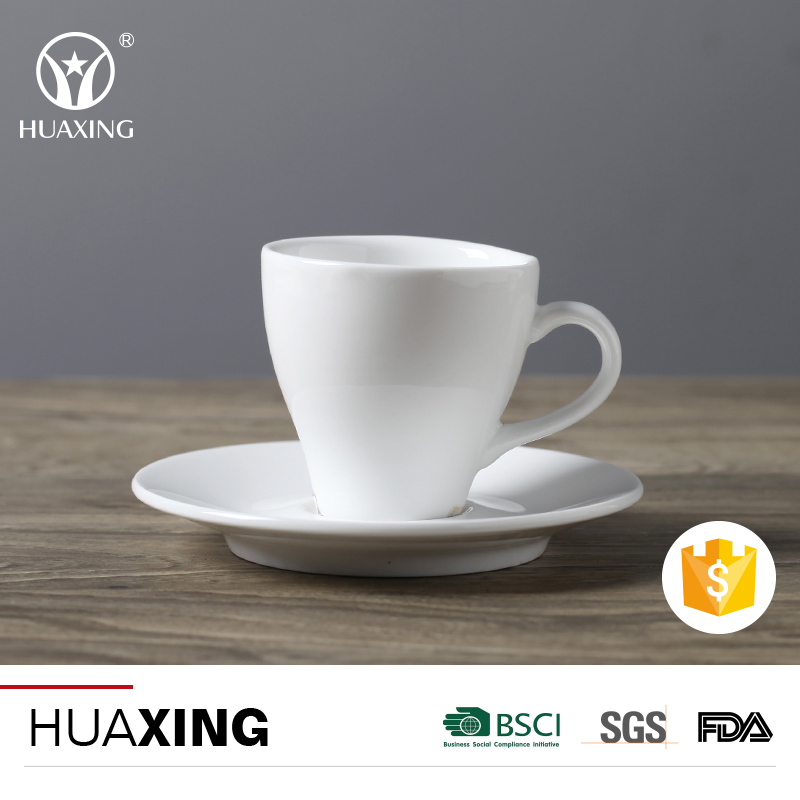 2017 new porcelain espresso bulk tea cups and saucers with cheap price